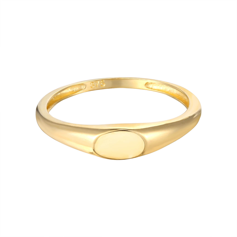 9ct Gold Oval Ring