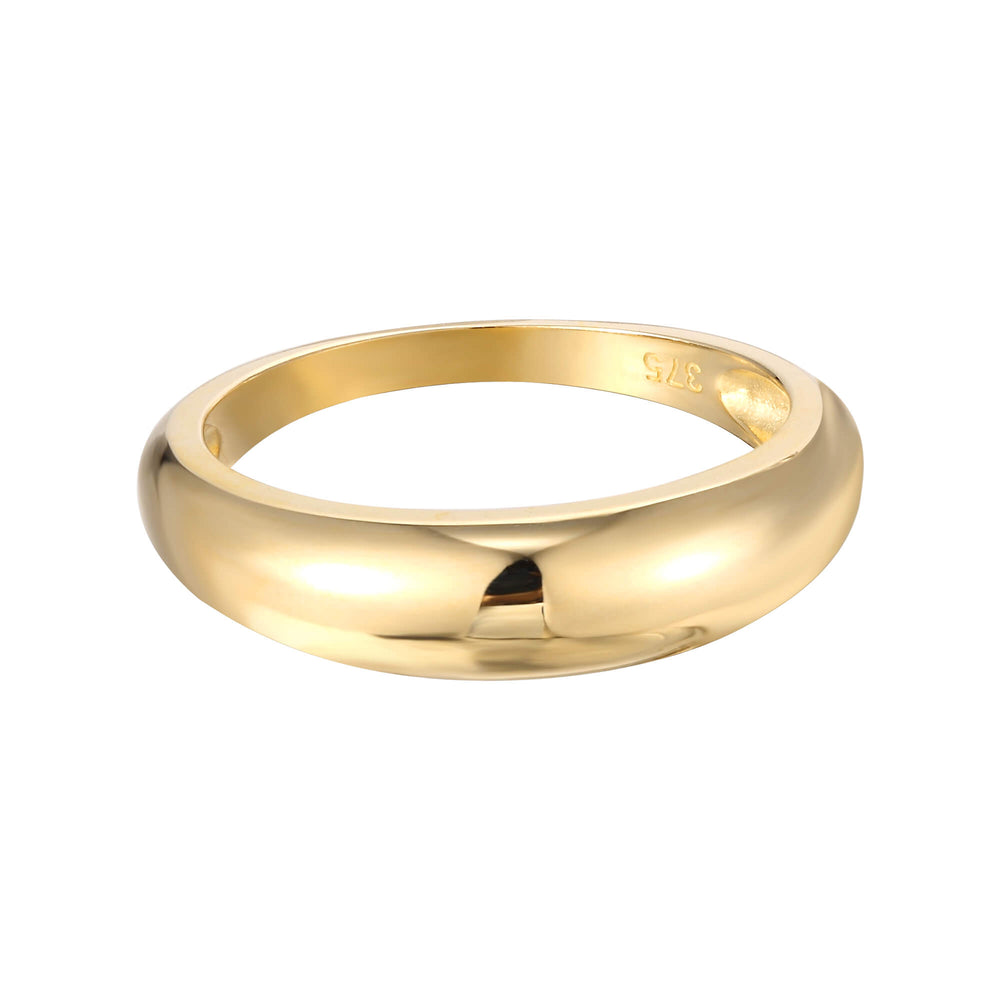 9ct Gold Domed Ring