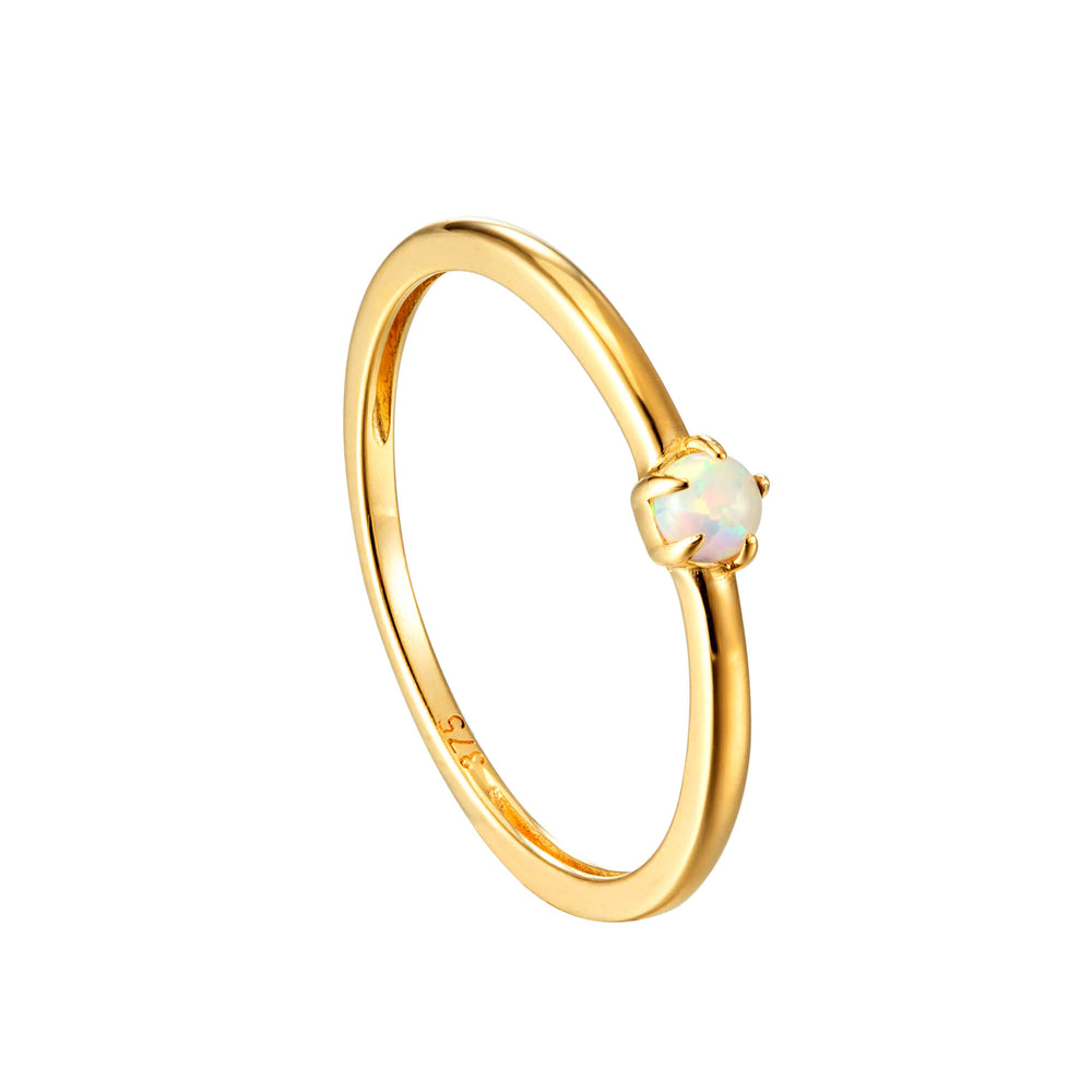9ct opal ring - seol gold
