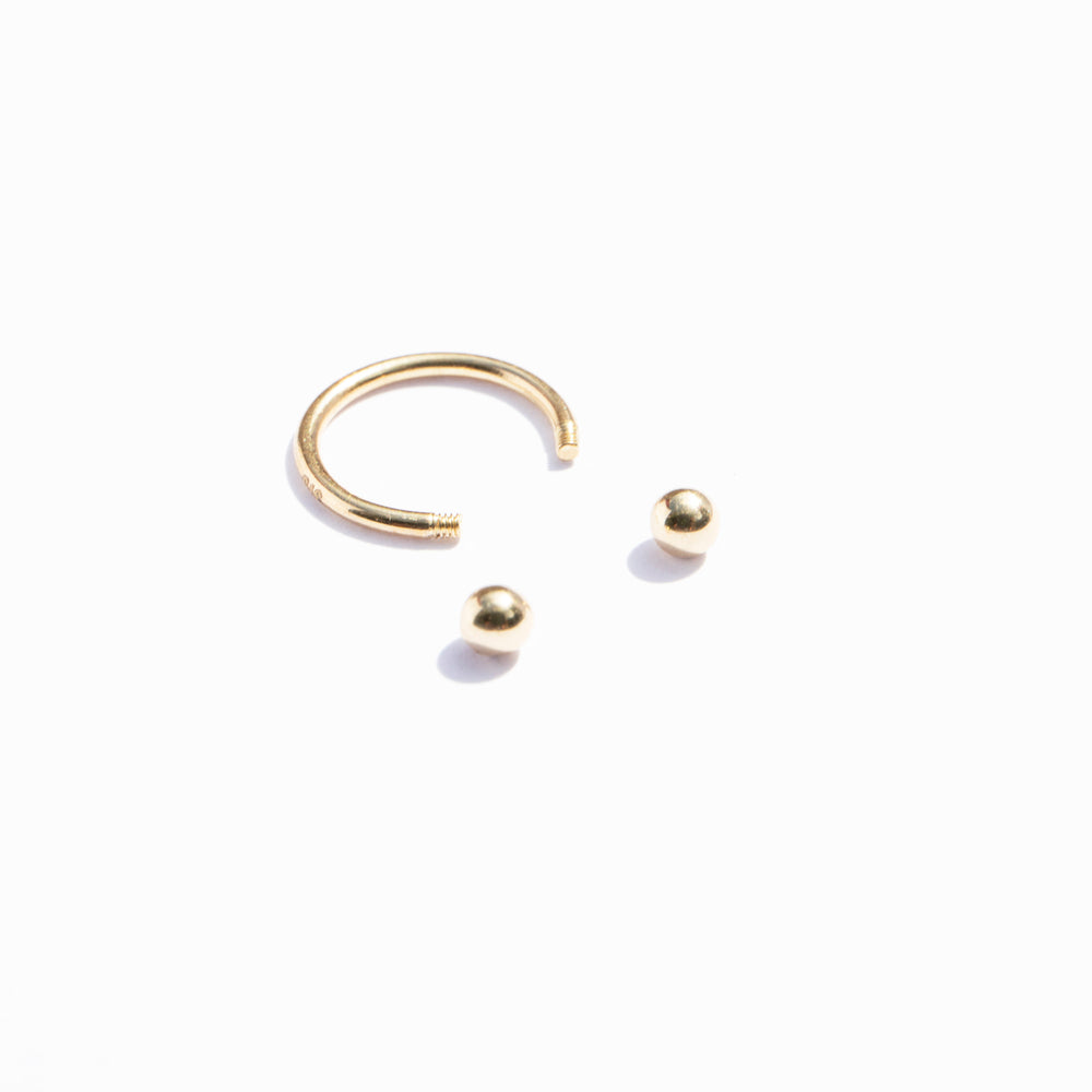 gold horseshoe hoop - seol-gold