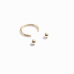 9ct gold horseshoe curved barbell earring - seol-gold