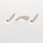 9ct Gold CZ Curved Barbell Stud - seol-gold