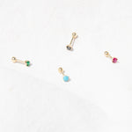 9ct gold cartilage earring - seolgold