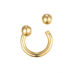 9ct gold - cartilage earring - seolgold