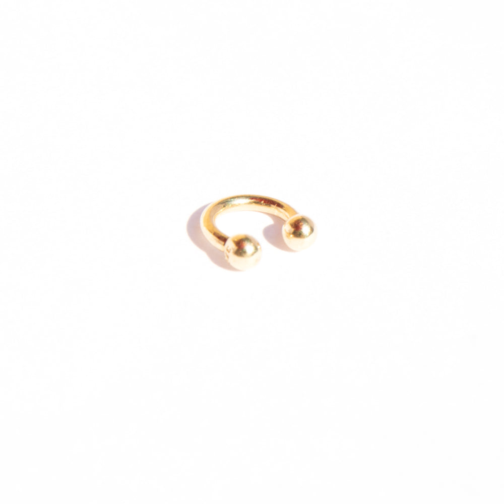 9ct gold small horseshoe earring