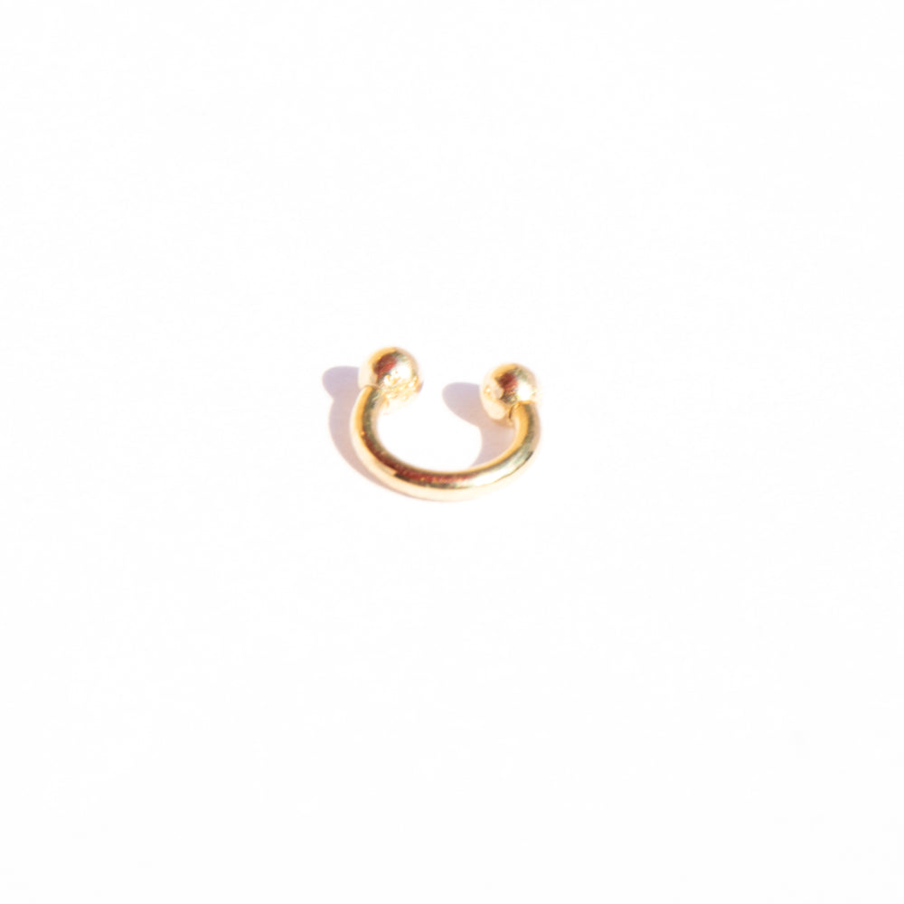 9ct gold circular bar piercing - seol-gold