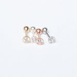 9ct Gold Scallop Bezel CZ Stud