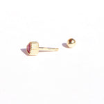 9ct gold Ruby heart CZ stud earring - seol-gold
