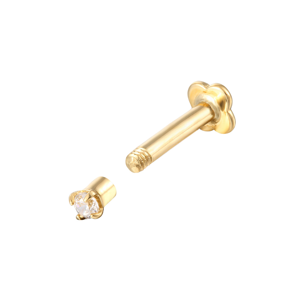 gold cartilage studs - seol-gold