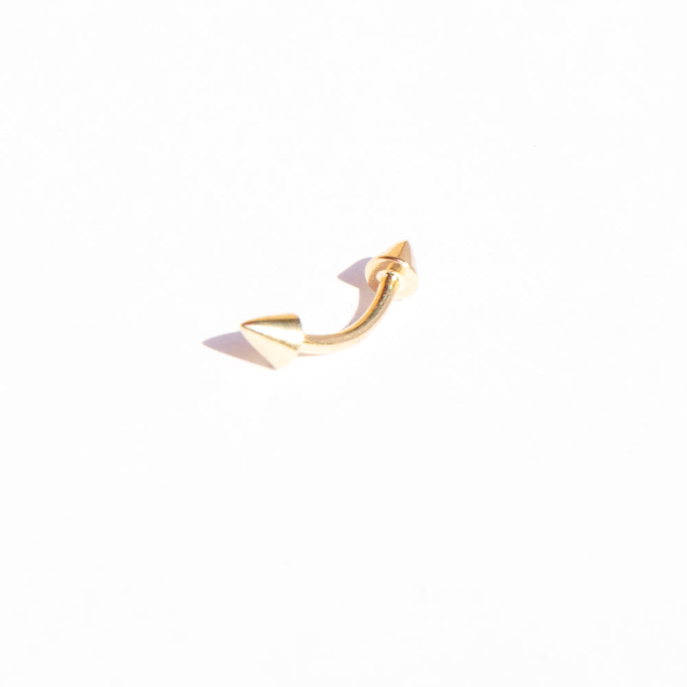 gold barbell stud - seol-gold