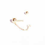 gold cartilage earrings - seol-gold