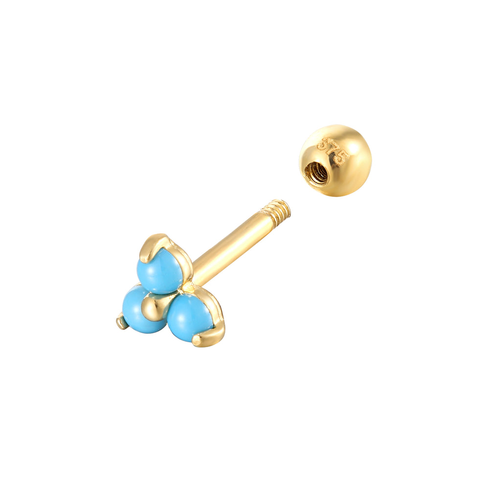 9ct Gold Turquoise Stud - seol-gold