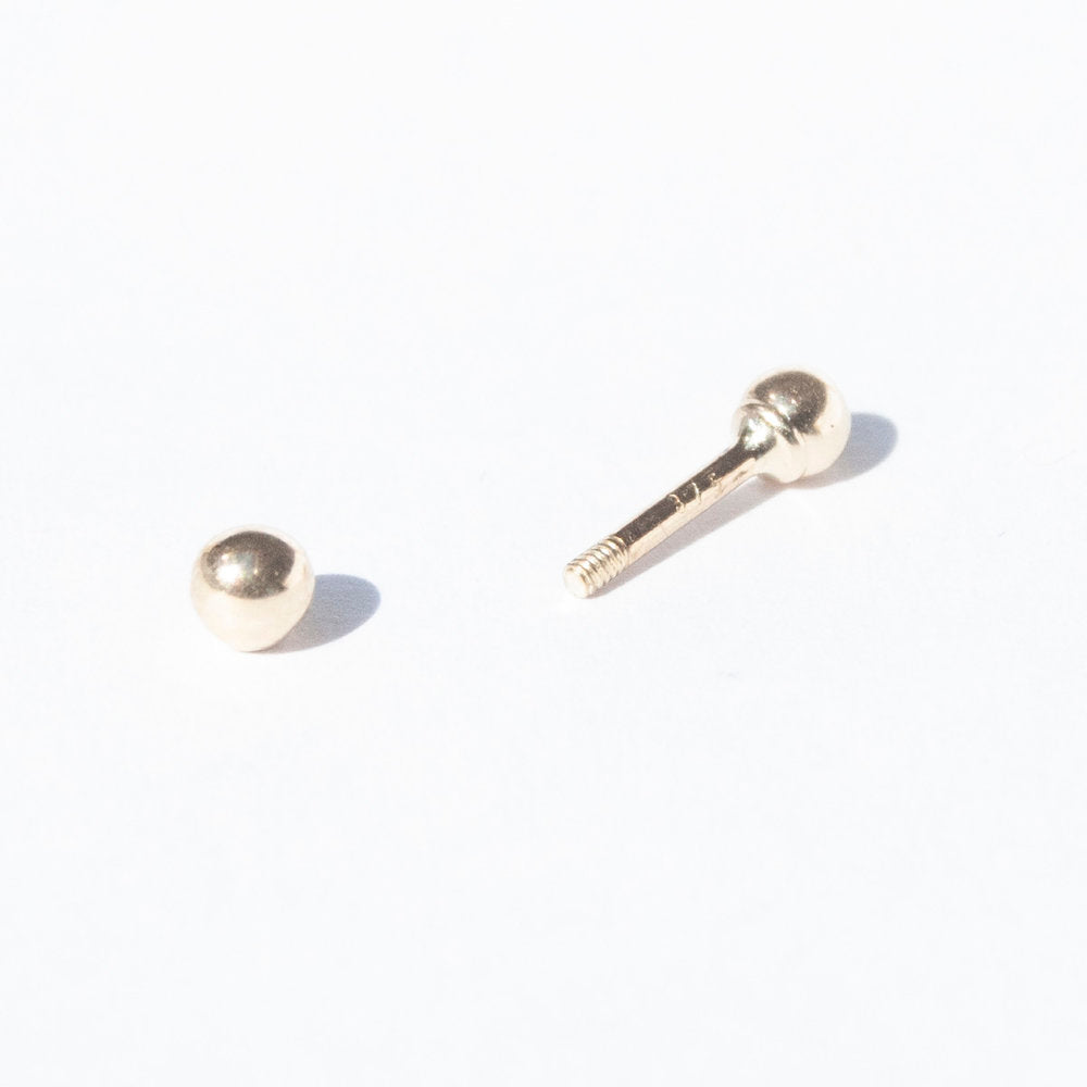 9ct Gold Ball Stud - seol-gold