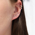 tiny silver stud earrings - seolgold