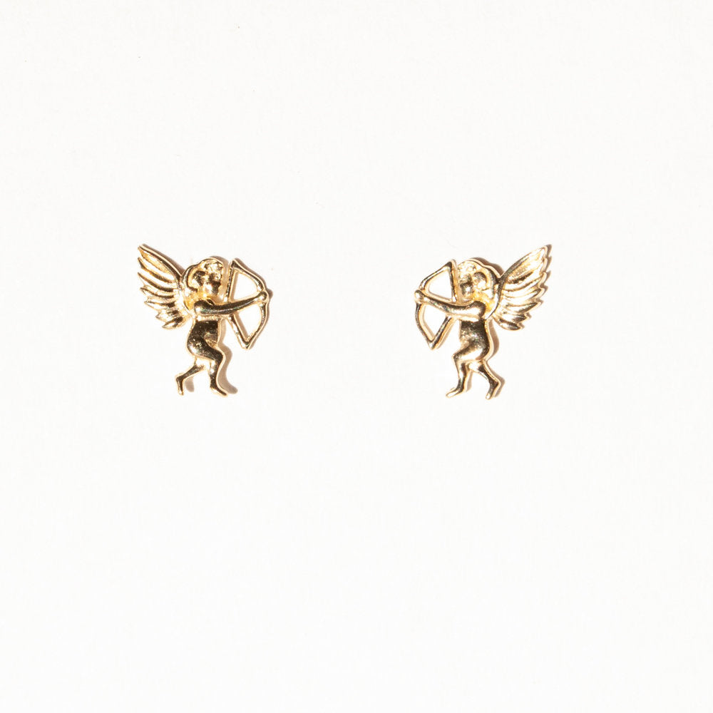 9ct Gold Cupid Studs - seol-gold