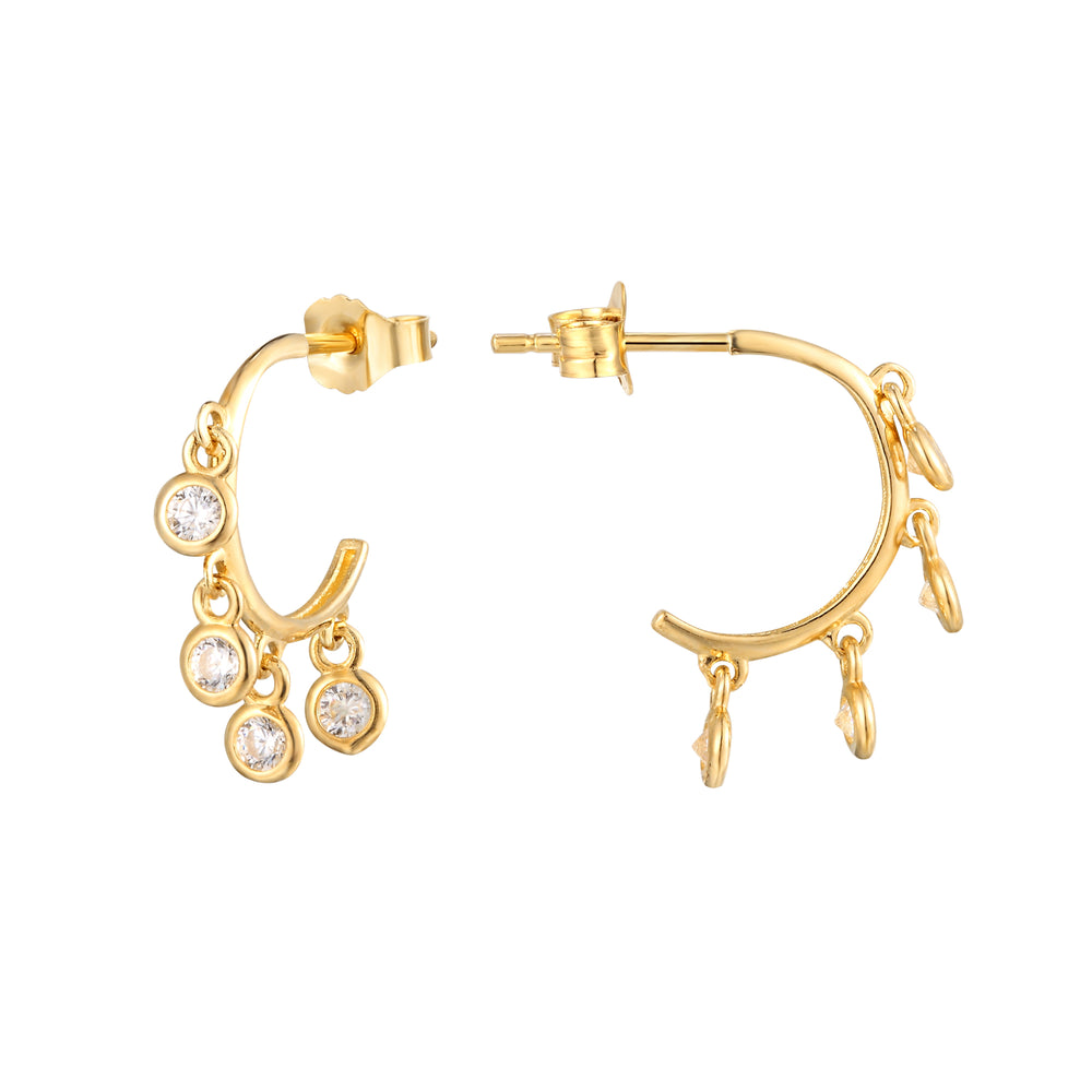 9ct gold charm studs - seol-gold