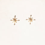9ct Gold CZ North Star Studs
