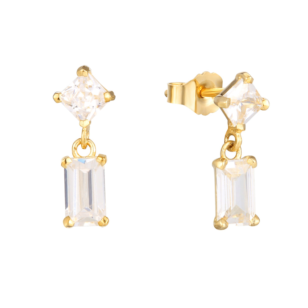 9ct gold tiny cartilage studs - seolgold