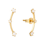 9ct gold cz constellation climber stud - seol-gold