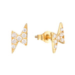 9ct Gold Lightning Bolt Studs