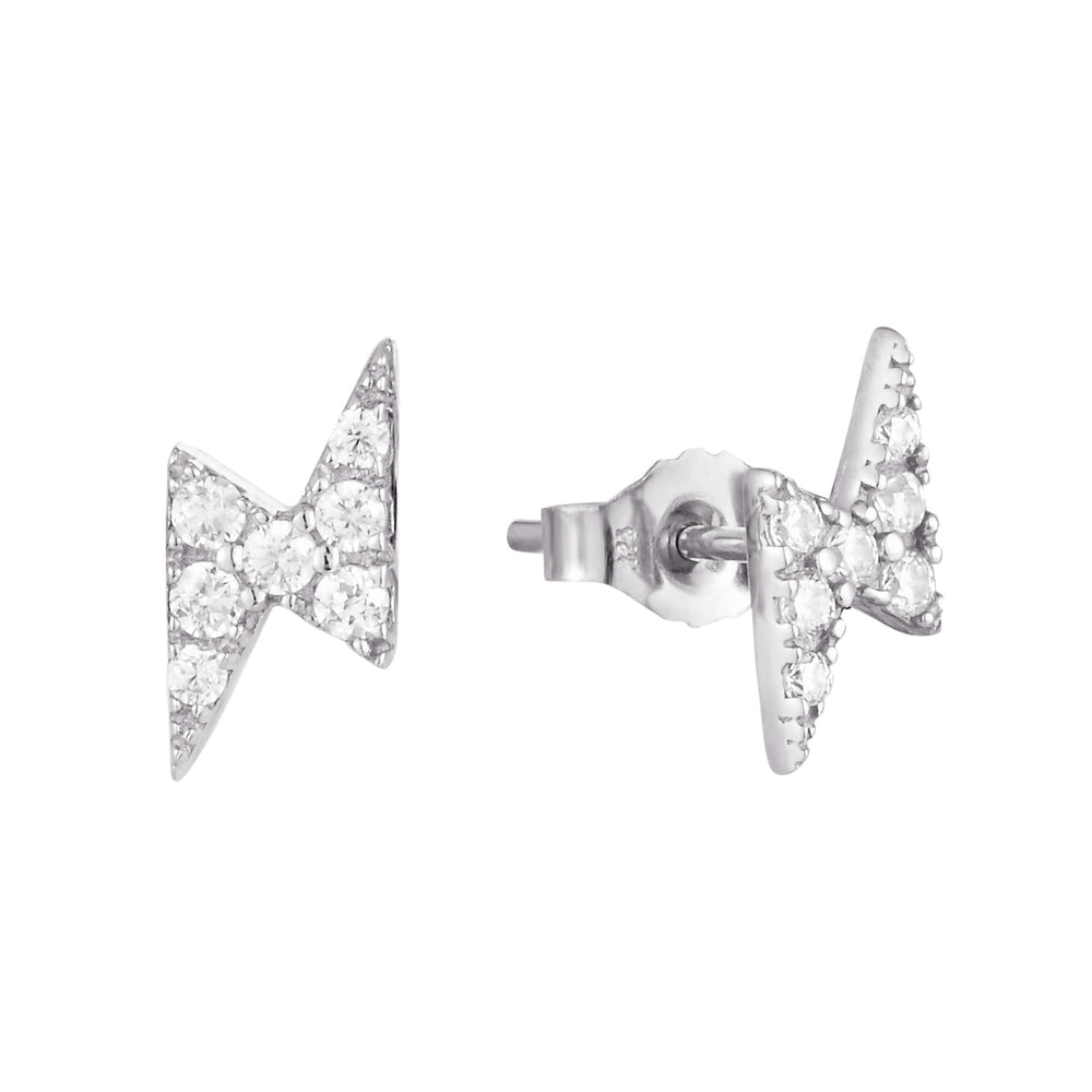 9ct white gold earrings - seolgold