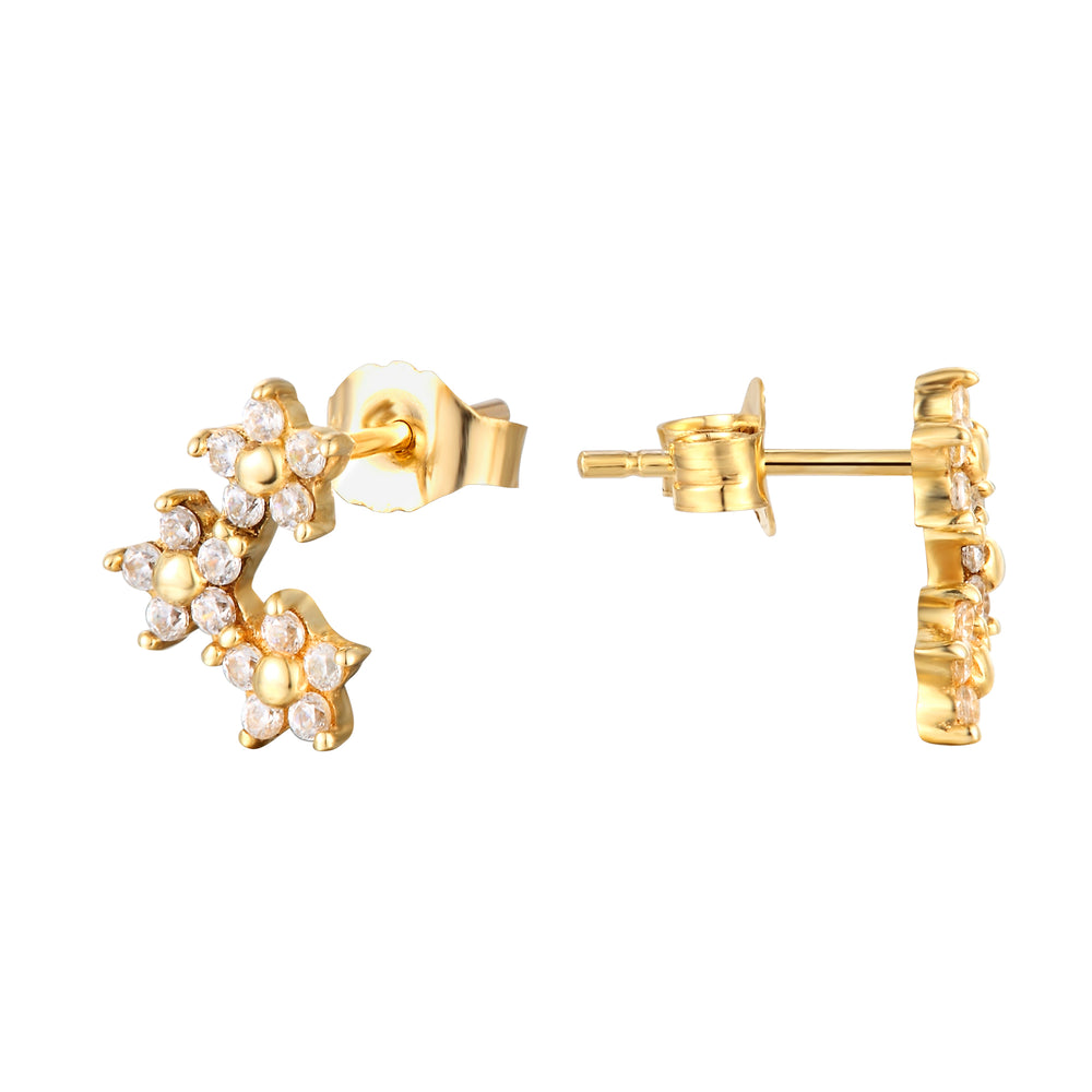 9ct Gold Flower Studs - seol-gold