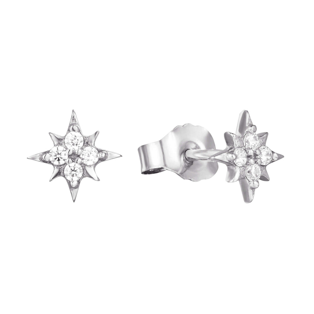 silver star studs -seolgold