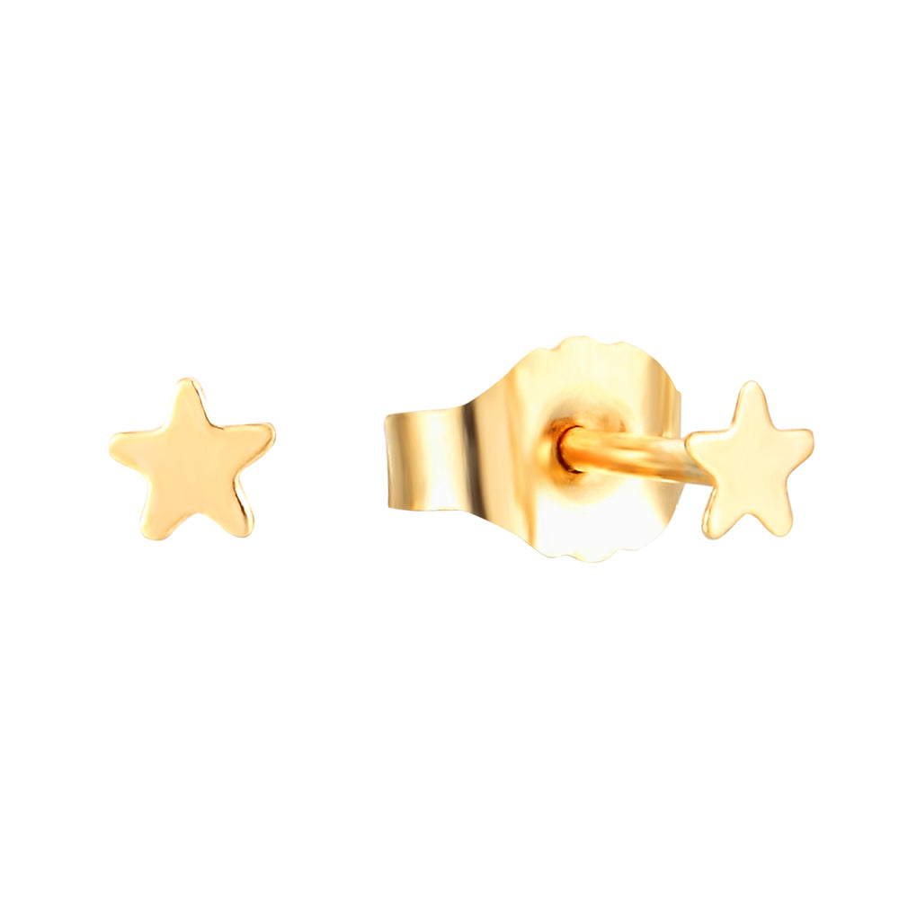 tiny gold stud earring - seolgold