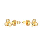 9ct gold stud earrings - seol-gold