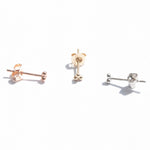9ct Gold Tiny Triple Dot Studs - seol-gold