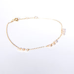 9ct gold pearl charm bracelet - seol-gold