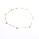 9ct gold ruby bezel charm bracelet