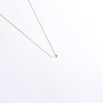 9ct gold single pearl necklace