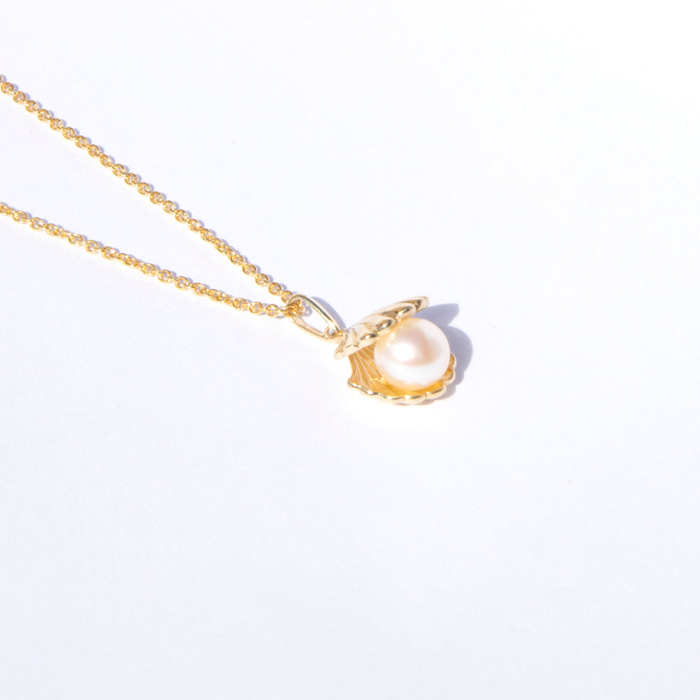 9ct gold pearl shell necklace - seol-gold