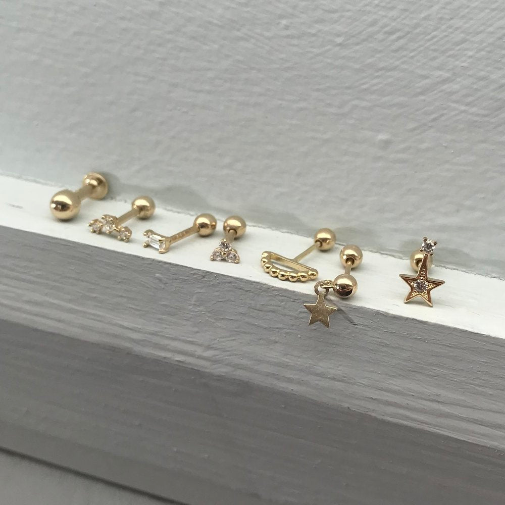9ct Gold Constellation CZ Stud - seol-gold