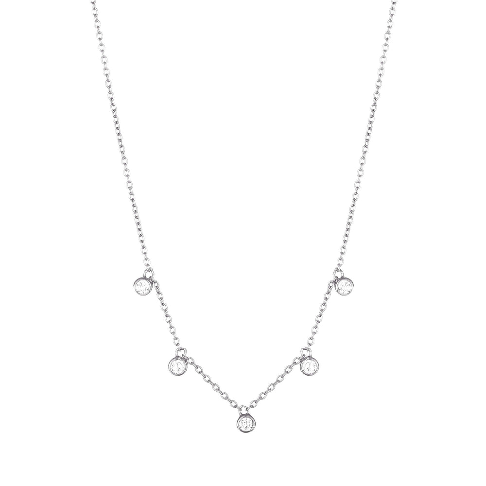 silver charm necklace - seolgold