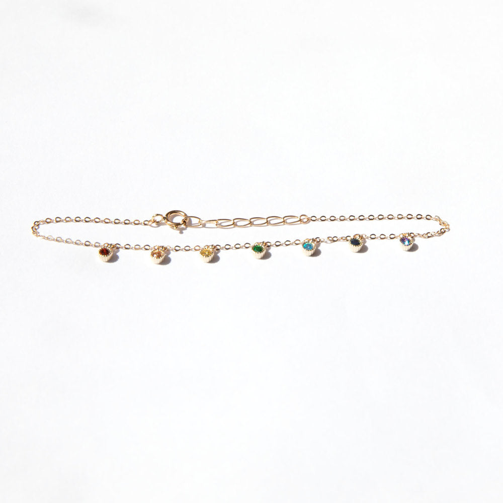 9ct Gold rainbow bracelet - seol-gold