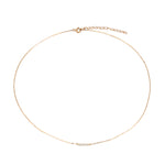 9ct Gold Tiny CZ Parallel Bar Necklace - seol-gold