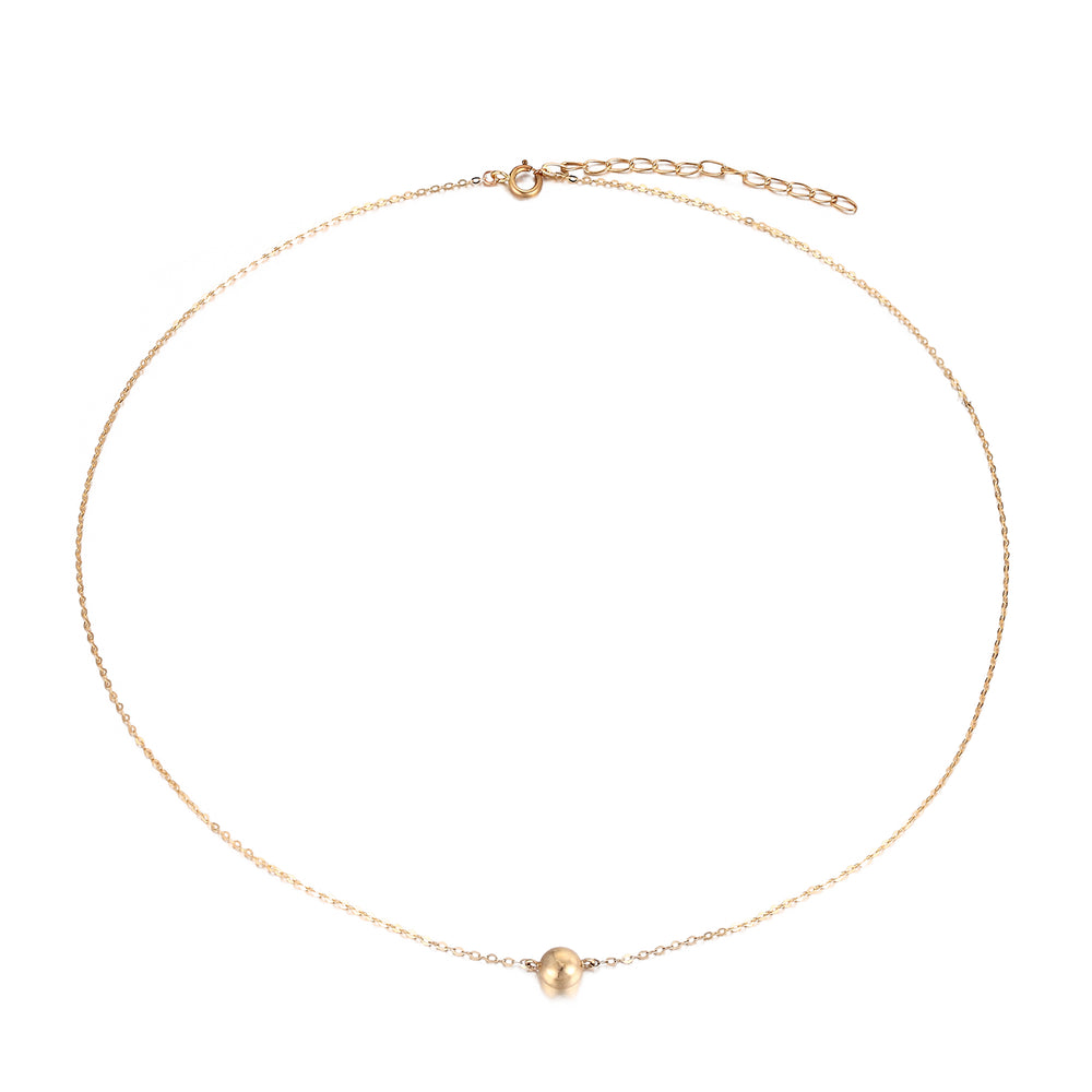 Round Dot Necklace - seol-gold