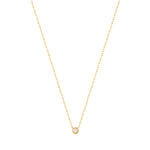 solitaire necklace - seol gold