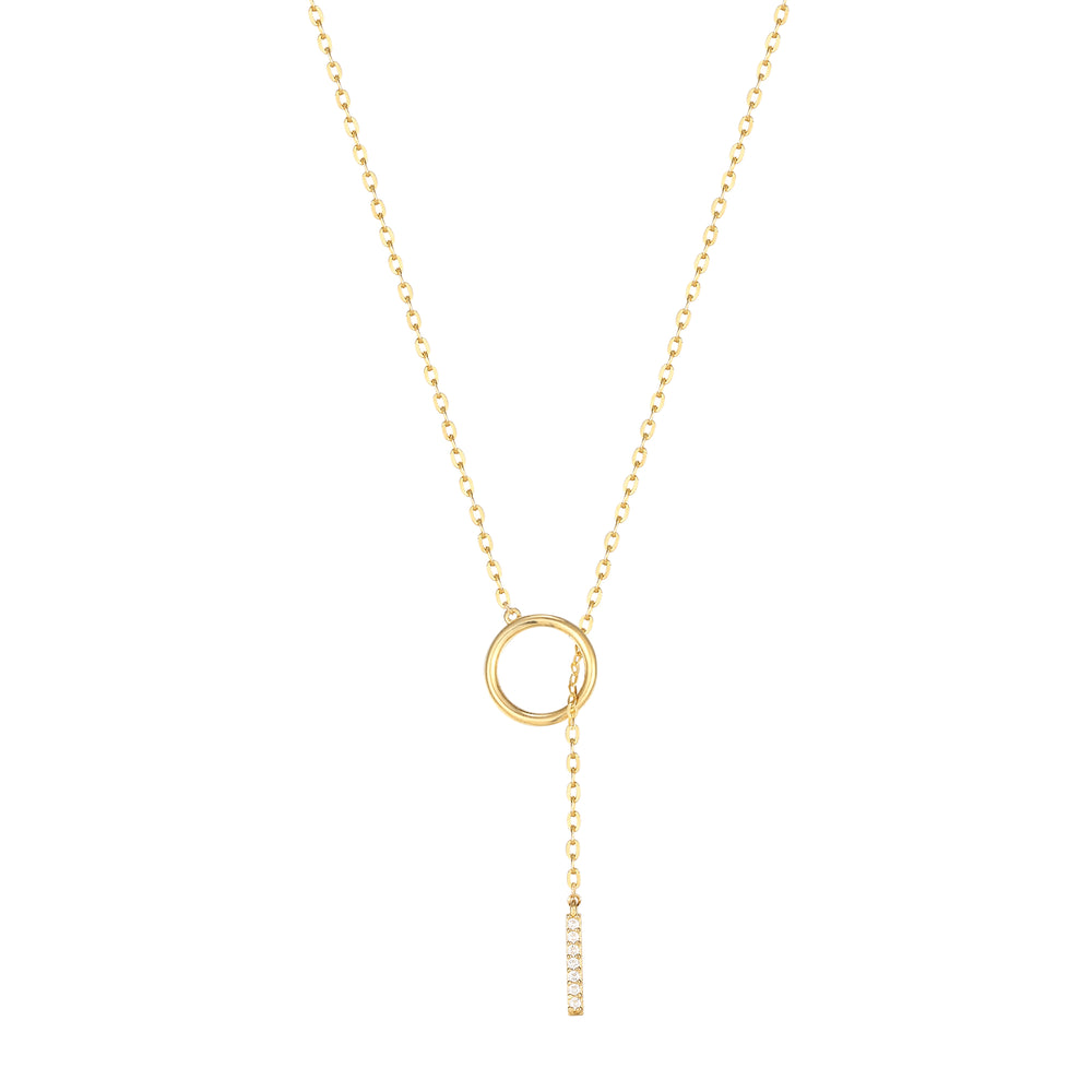 9ct Gold Circle Link Necklace