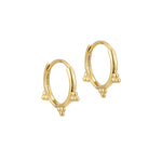 9ct Gold Dotted Hoops - seol-gold