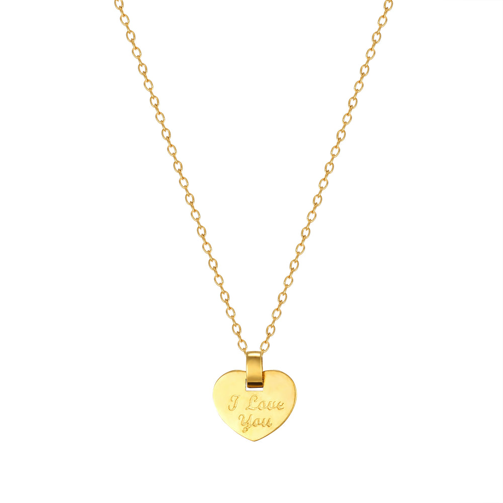 Gold Heart Pendant - seol-gold