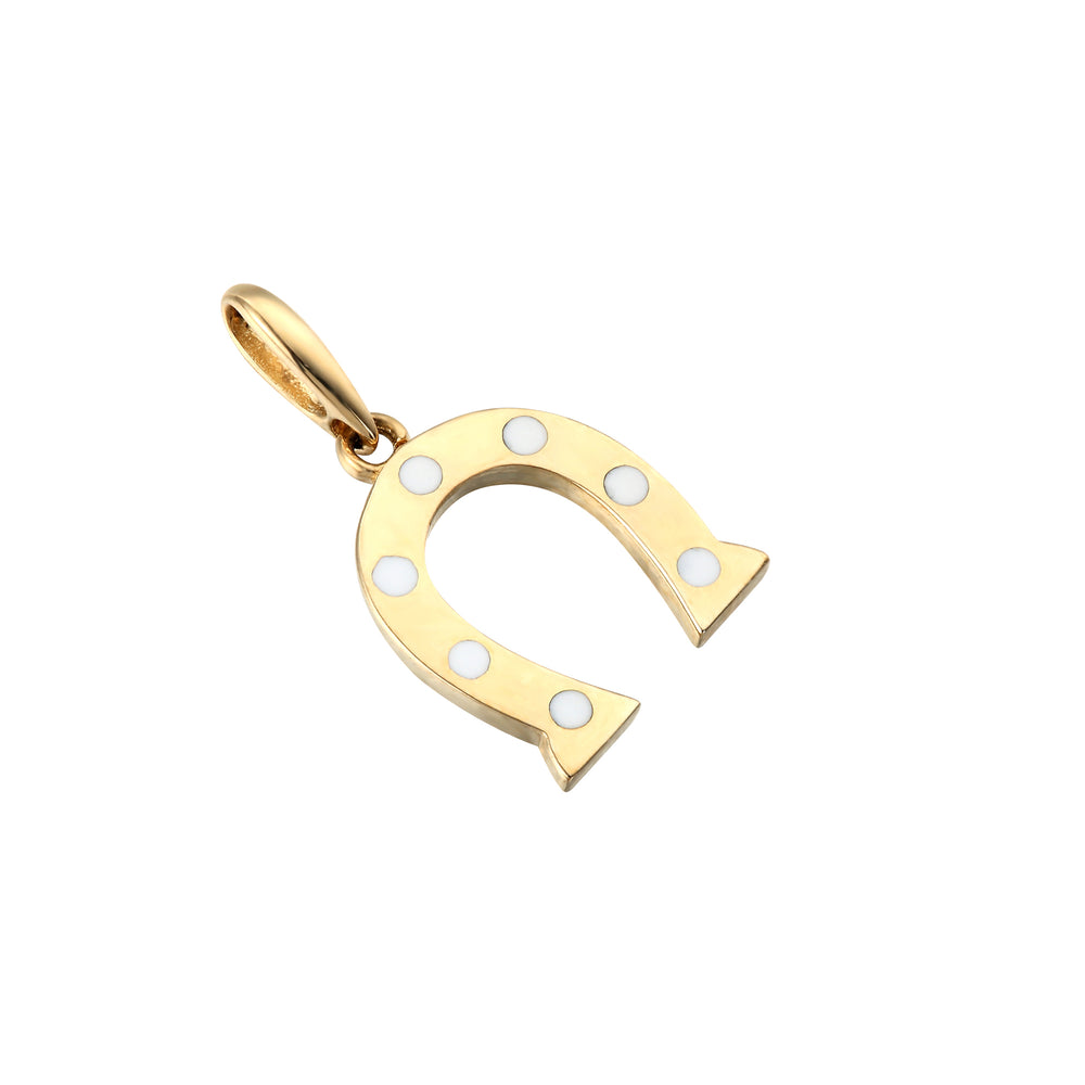 9ct Gold Enamel Horseshoe