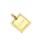 9ct Gold Love Pendant