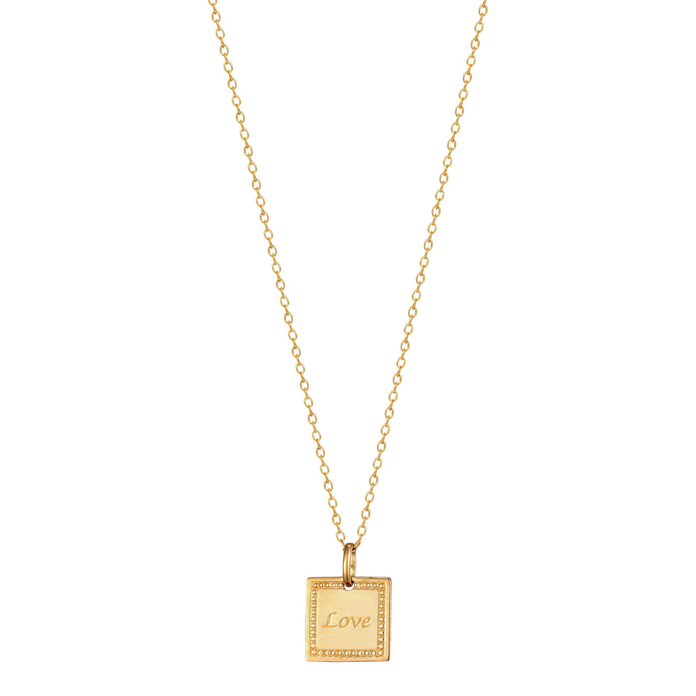 9ct gold - love - necklace - seolgold