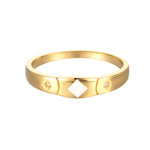 9ct Gold Enamel CZ Ring