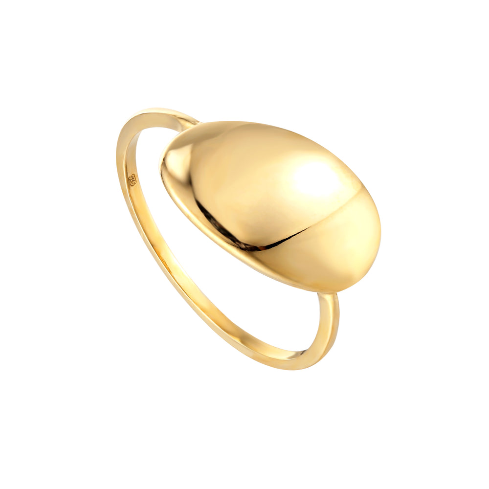 9ct gold signet ring - seolgold