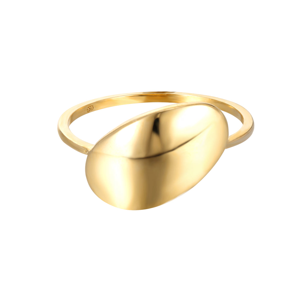 9ct Gold Large Oval Shape Ring
