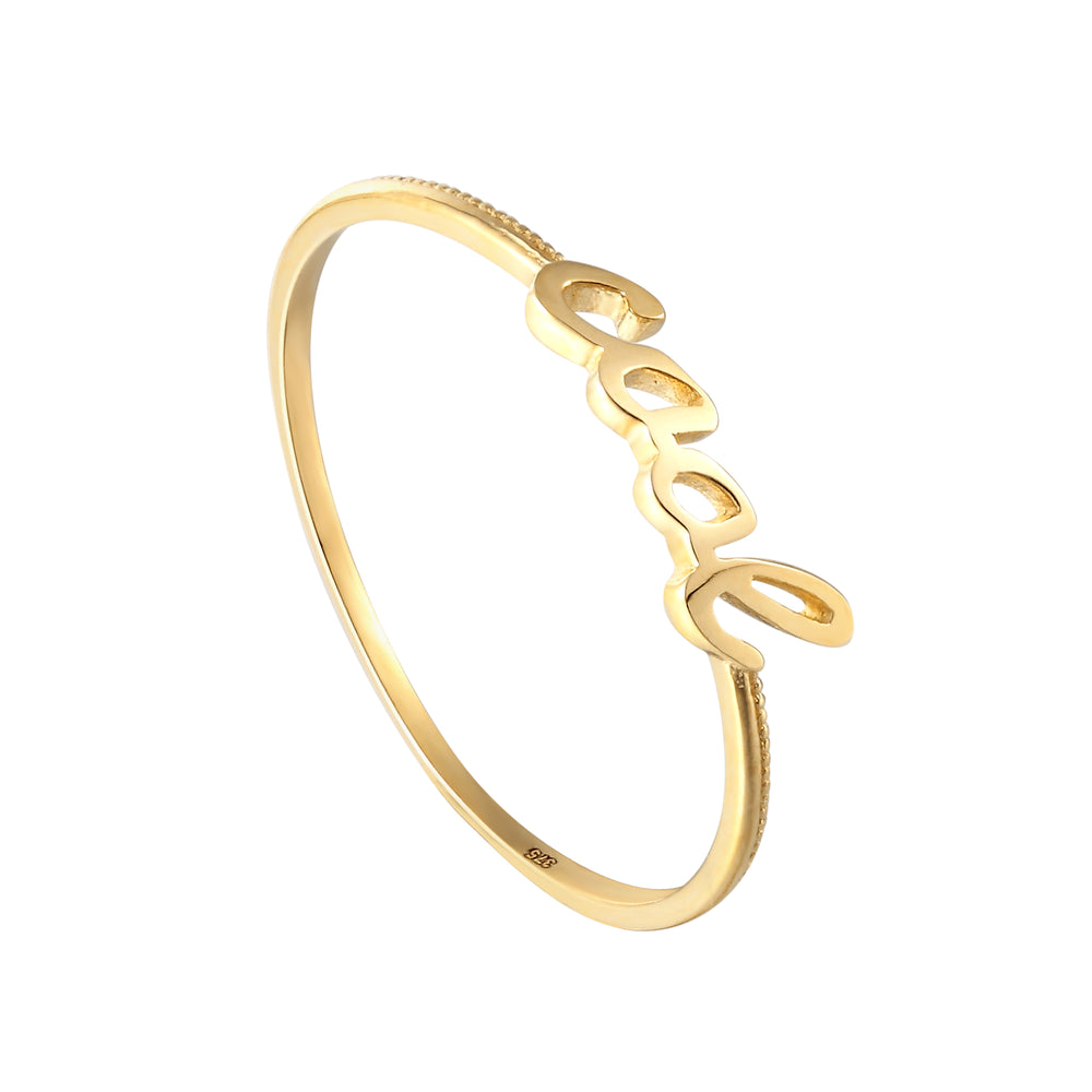 9ct Gold 'Cool' Ring - seol-gold